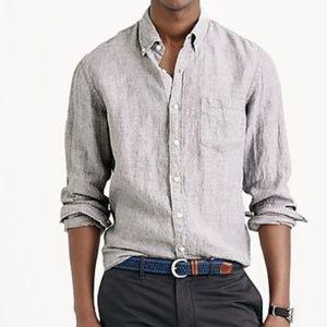 J.Crew Slim Irish linen shirt in dot